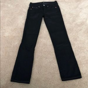 7 For All Mankind Bootcut Jeans  Size 25 Black